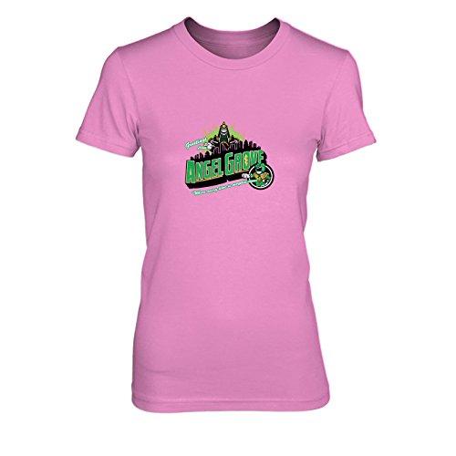 Greetings from Angel Grove Green - Damen T-Shirt, Größe: XL, Farbe: pink
