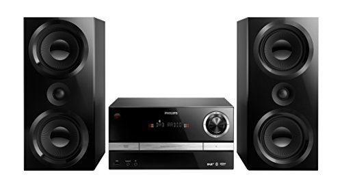 Philips BTB3370/12 Mini Stereoanlage BTB3370/12, DAB+CD,MP3-CD,USB,UKW, 150 W, schwarz