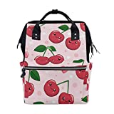 Cherry Pink Diaper Bag Backpack Mummy Dad Tote Travel School Boy Girl Large