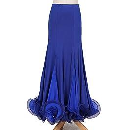 cheap for discount b890e 82491 MoLiYanZi Elegante Costume da Ballo Liscio da Ballo Liscio da Donna Gonne  per Adulti Valzer Tango ...