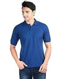 ILLUSTRE Blue Solid Cotton Men's T-Shirt