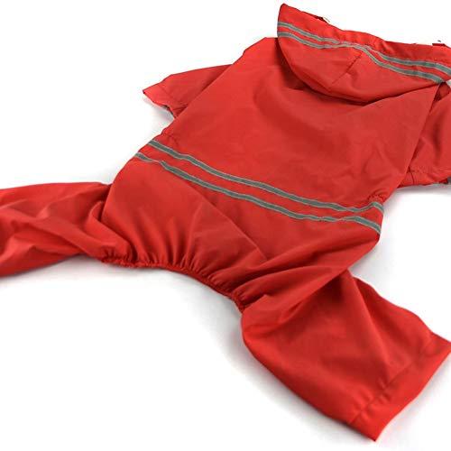 Preisvergleich Produktbild Großer Hund Regen Mantel Haustier Kleidung Hund Wasserdichte Jacke Kostüme Regen Mantel - Rot (7XL)