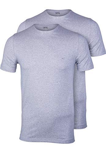 camel active T-Shirt Halbarm Rundhals Doppelpack Jersey Hellgrau Größe L