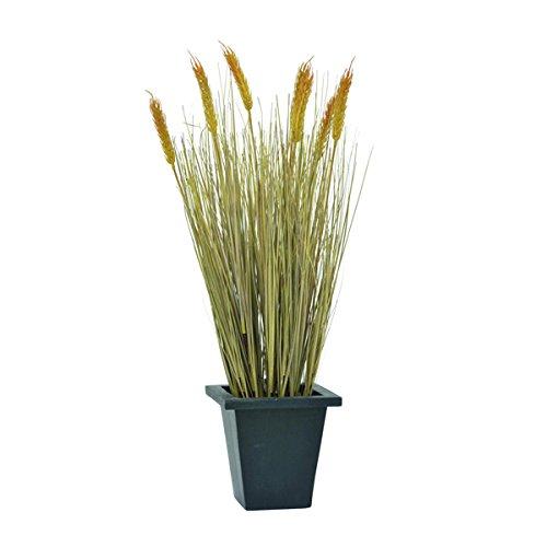 Set 3 x di Grano decorativo di piena estate con 30 ciuffi d'erba, 60 cm, Ø 20 cm - 3 pezzi di Pianta artificiale in vaso / Pianta ornamentale - artplants