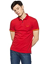 Peter England Men's Solid Slim Fit Polo