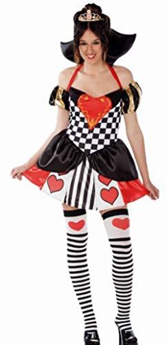 Herzkönigin-Kostüm mit Glitter für Damen M/L