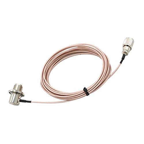 Baoblaze Stereo Radio Male Antenne Adapter Pl-259 und So-239 Anschlüsse Kabelverlängerung Auto Antenne Kabel