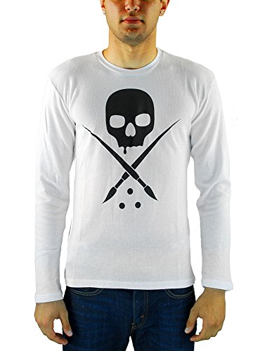 Sullen Men's Badge of Honor Thermal LS T Shirt White 2XL (Mens Thermal Shirt Ls)