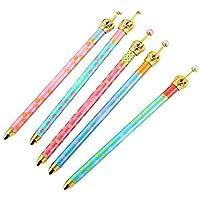 10pcs Pretty Cute Corona Pois Penna a sfera roller penna con inchiostro gel Penne per scuola, ufficio