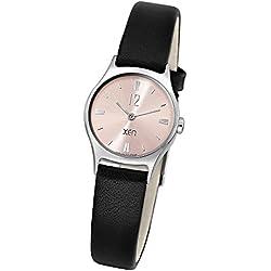 Xen Damen-Armbanduhr XS Analog Quarz Leder XQ0254