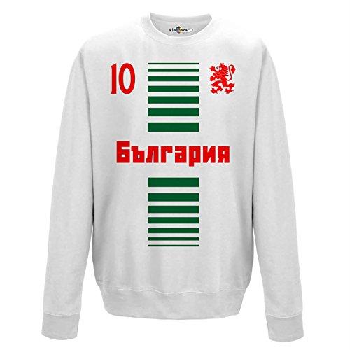 Felpa Girocollo Uomo Nazionale Sportiva Balgarija Bulgaria 10 Calcio Europa Leone 1 BG KiarenzaFD Streetwear Arctic White