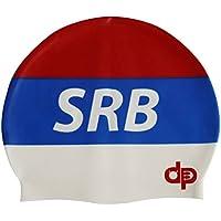Diapolo Serbia cuffia silicone nuoto dalla collezione Nazioni per nuoto  sincronizzato Nuoto pallanuoto Triathlon 2b3d86553bd1