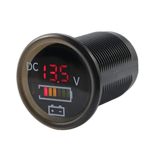 Cansenty DC 12 V/24 V auto barca voltmetro batteria monitor IP67 impermeabile LED indicatore di tensione