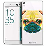 Caseink - Coque Housse Etui pour Sony Xperia XA Ultra 6 [Crystal HD Polygon Series Animal - Rigide - Ultra Fin - Imprimé en France] - Chien