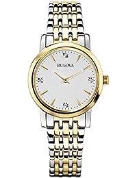 Bulova Diamond Classic 98S115 - Reloj de Pulsera de diseño para Mujer - Acero  Inoxidable - ff2535326948