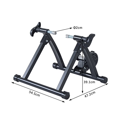 Homcom-Quiet-Indoor-Bicycle-Magnetic-Foldable-Turbo-Trainer-Black-26-27-Inch