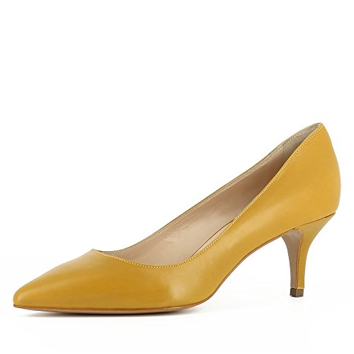 Evita Shoes Giulia Damen Pumps Glattleder Ocker 40