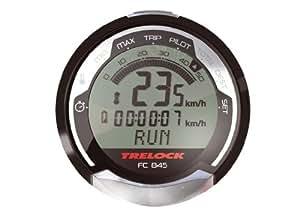 Trelock  FC 845 GPS et compteur vélo sans fil 23 fonctions Rétroéclairage Noir/gris