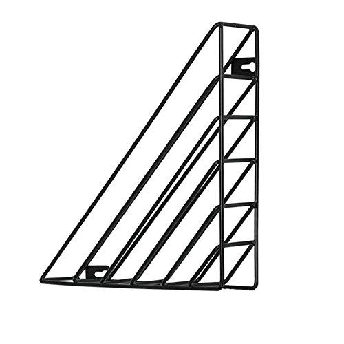 Einfache Eisen Wandbehang Lagerregal Magazin Rack Malerei Regal Büro Wandregal Desktop-Speicher-Organisator