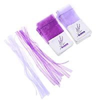 BESPORTBLE 20pcs Gauze Lavender Bags Natural Flavorance Pouch Small Item Storage Bag Empty Sachets Bag Christmas Gifts for Home Wardrobe/Car