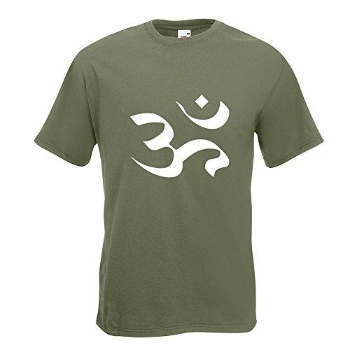 KIWISTAR - Om T-Shirt in 15 verschiedenen Farben - Herren Funshirt bedruckt Design Sprüche Spruch Motive Oberteil Baumwolle Print Größe S M L XL XXL Olive