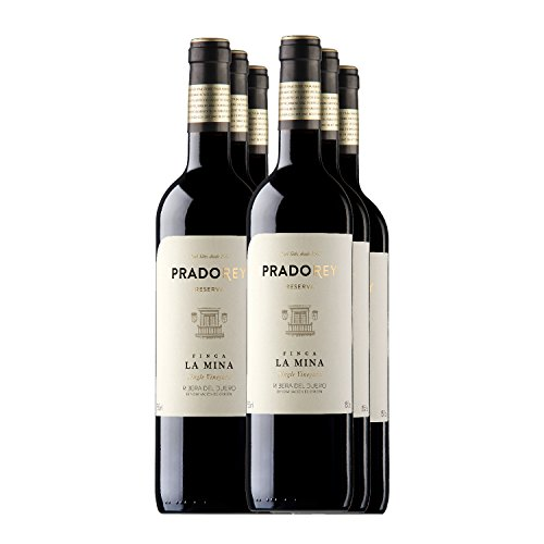 Pradorey Finca La Mina - Vino Tinto - Reserva - Ribera Del Duero - 95%tempranillo, 3% Cabernet Sauvignon, 2% Merlot - Vino De Guarda Con Crianza De 18 Meses En Barrica Y 6 Meses En Conos De Nevers - 6 Botellas - 0,75 L