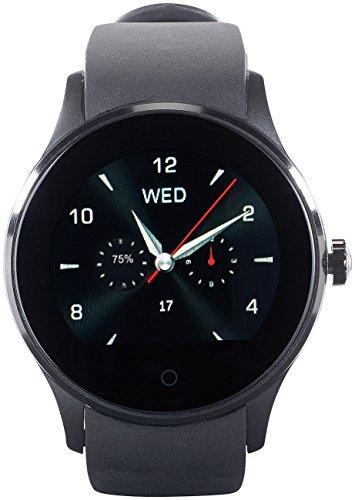 Simvalley Mobile Smart Uhr: Handy-Uhr & Smartwatch für iOS & Android, mit Bluetooth & Herzfrequenz (Uhr mit SIM) Nano Li-ionen-batterien
