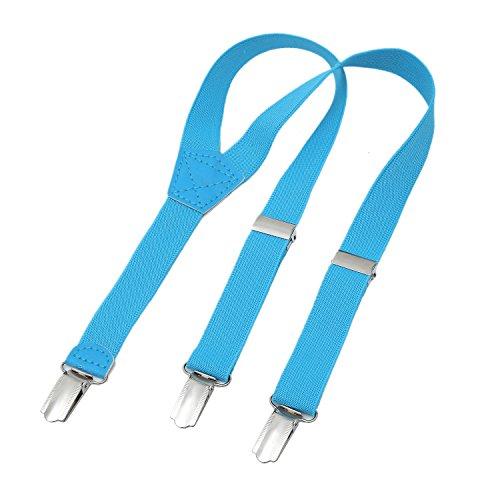 DonDon Kinder Hosenträger hellblau 2 cm schmal längenverstellbar für eine Körpergröße von 80 cm bis 110 cm bzw. 1 - 5 - Große Für Kinder Hosenträger