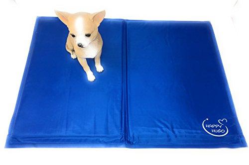 selbstkühlende WOHLFÜHLMATTE für Hunde 45 x 60 cm blau