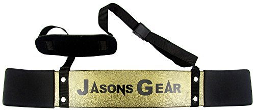 JASONS GEAR Bicep Isolator Arm Blaster Bomber Curl Fitness Gym Workout Training Support Curl Triceps Muscle. (GOLD)