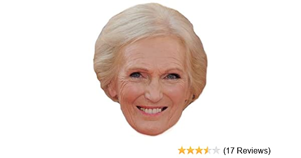 Mary Berry Celebrity Chef Bake Off Card Mask All Our Masks Are Pre-Cut!