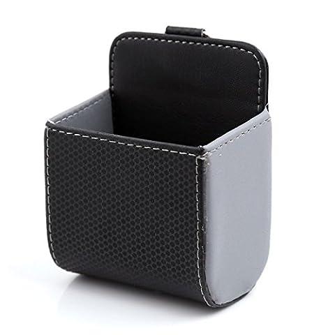Grille Aération Voiture TéléPhone Mobile Pochette Fixation w. Hook - Noir,Gris, Taille Unique