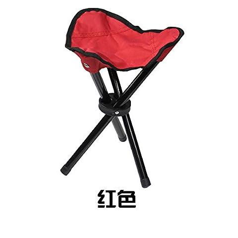 Lanlan Stativ Slacker Klappstuhl tragbar Leichtes Angeln Sitz Hocker für Camping Wandern Garten, rot