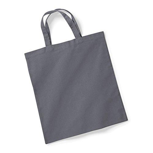 shopping bag cotone- borsa in cotone Grigio