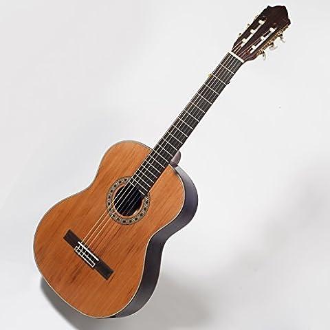 Guitarra Clásica - Tapa de Cedro Macizo - Parte Trasera y Laterales de Palisandro - Incluye Funda Acolchada de 20 mm de Grosor - Color Natural