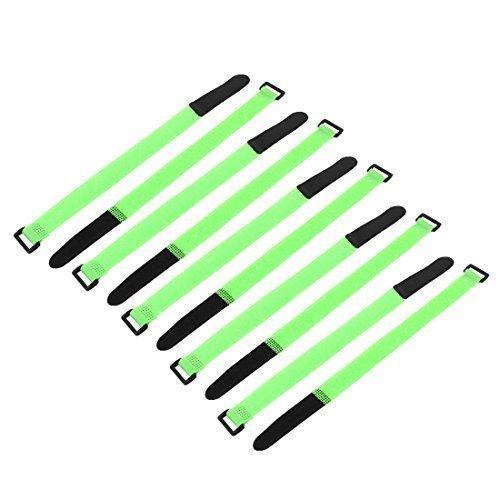 sourcingmap® 10pz. 300mmx20mm Batteria Lipo Cerchio Laccio Riutilizzabili Fascetta Cinturino Verde
