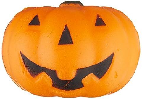 1.5 Squishy Jack-O-Lantern Pumpkin Stress Ball Release Squeeze