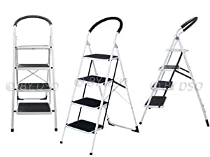 extra wide 4 step ladder with rubber grip 150kg bml10270. Black Bedroom Furniture Sets. Home Design Ideas