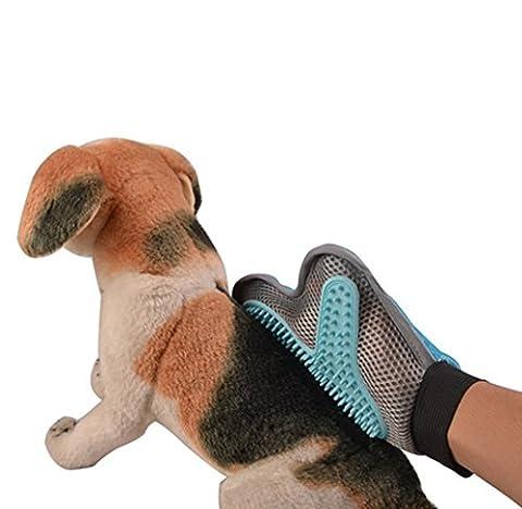 yiyida 1Stück Haustierpflege Pinsel Handschuh mit weichem Silikon, Haarentfernung Pinsel für Hunde, Katze Pinsel Healthcare Pflege Bad Handschuh, neue Styling Massage Kamm für Haustiere