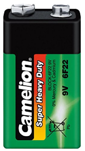 Block-Batterie CAMELION Super Heavy Duty 9 V, Typ 6F22, 1er Pack 6f22 Super Heavy Duty Batterien