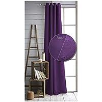TODAY-Coppia di tende isolanti, 140 x 240 cm, colore: viola scuro