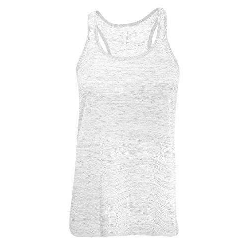 Bella Damen Tanktop / Top mit Racer-Back, weite Passform Weiß marmoriert