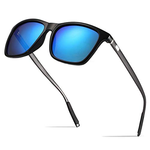 Gafas de sol polarizadas Hombre Mujer vasos para Outdoor Sport, 100% protección UVA gafas unisex Moderno conductores para golf/conducción Outdoor Sport Pesca Gafas de sol (blue)