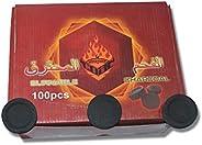 أقراص فحم البخور من سام- 100 قطعة/ حزمة