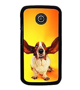 PrintVisa Dog With Up Ears High Gloss Designer Back Case Cover for Motorola Moto E2 :: Motorola Moto E Dual SIM 2nd gen :: Motorola Moto E 2nd Gen 3G XT1506 :: Motorola Moto E 2nd Gen 4G XT1521