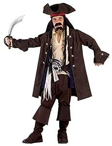 clown republic - Disfraz de pirata de los 7 mares, para niña, 90208/08, multicolor