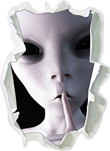 Alien - ne pas parler Papier 3D taille sticker mural: 62x45 cm, décoration murale, 3D Stickers muraux, Stickers muraux