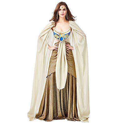 ZQ Mädchen Cleopatra Kostüm Kinder ägyptische Prinzessin Dress Queen of The Nile Outfit Halloween-Kostüm,Adult,M