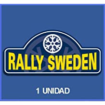 PEGATINAS STICKERS RALLY RALLYE SWEDEN DP518 RALLYE AUFKLEBER DECALS AUTOCOLLANTS ADESIVI CAR DECALS RALLY RALLIES (COLORES IMAGEN/IMAGE COLORS)