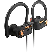 basso WEEDO Wireless Bluetooth 5.0 Earphones with Rich Bass,Immersive Stereo Hd Sound,IPX7 Sweatproof & Waterproof Headphones,Sports in-Ear Bluetooth Earbuds handsFree with Mic for Phones 1 yr wnty